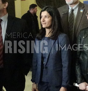 Sara Gideon Speaks at Patient First Press Conference Augusta ME