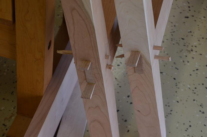 Trestle Table w Schwarz 45