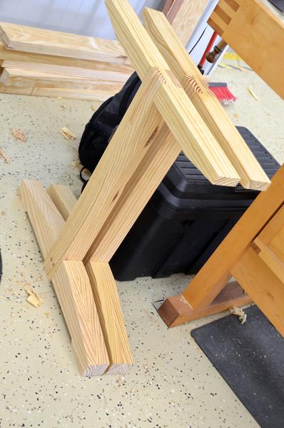 Trestle Table w Schwarz 49