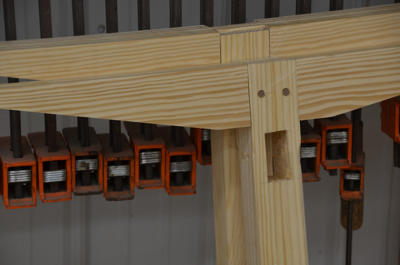 Trestle Table w Schwarz 48