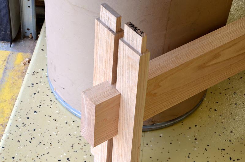 Trestle Table w Schwarz 46