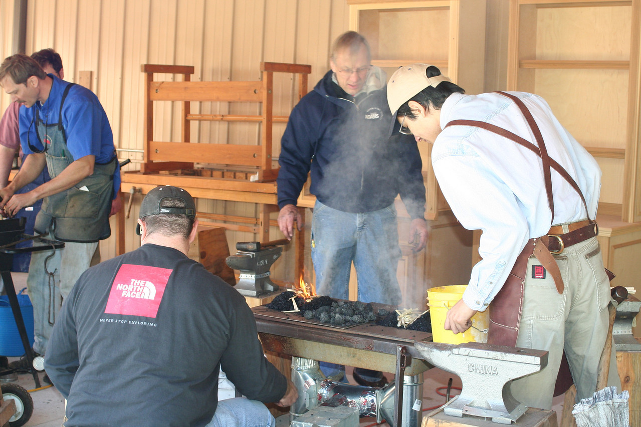 Blacksmithing w Burt 50