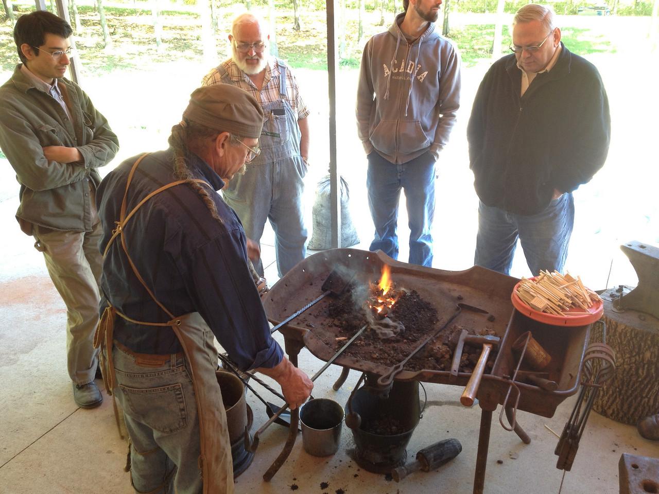 Blacksmithing w Burt 43