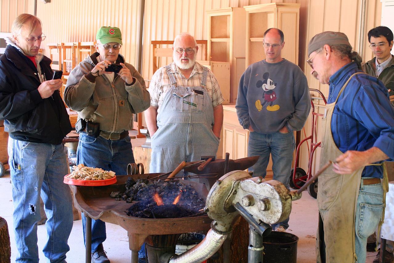 Blacksmithing w Burt 5