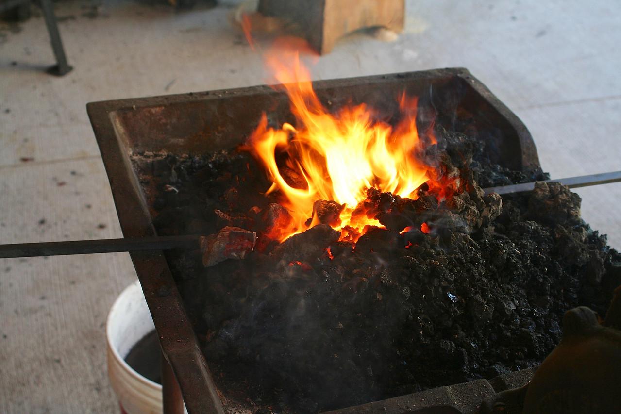 Blacksmithing w Burt 85