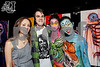 Josh Hixson posing for the cameras with his girlfriend and Bodypaint.Me models after winning ArtBattles U battle on 11/14/13