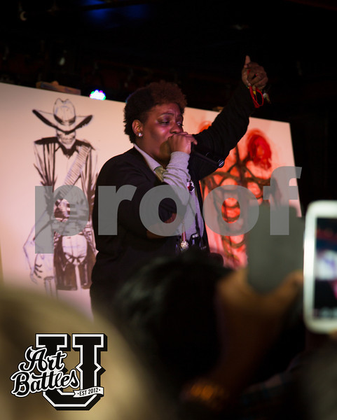 Sitcomlife Brown performing at ArtBattles U NY battle at Webster Hall.