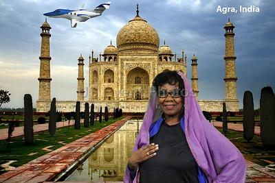 Taj Mahal with Jet