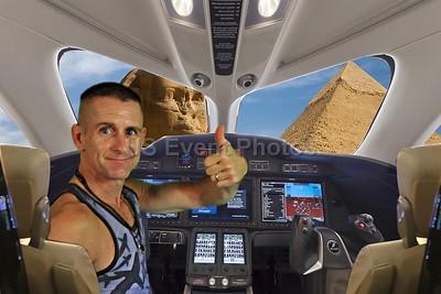 Landing at Pyramids
