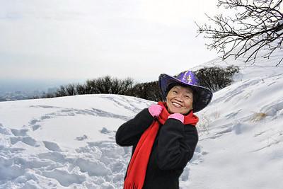 Ensign Peak in the Winter