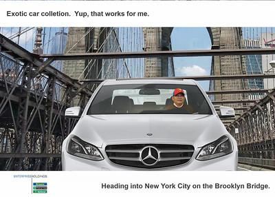 Driving on the Brooklyn Bridge