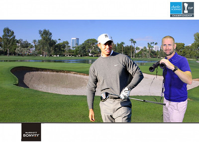 Playing golf with Tiger Woods