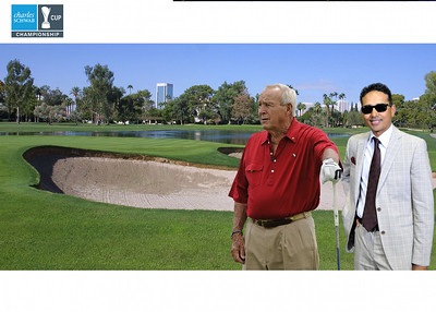 Golfing with Arnold Palmer