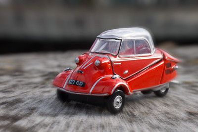 Three-wheeled Red Bubble - Diana Thurmann
