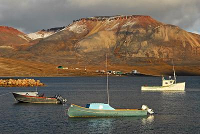 Boats in Arctic Bay, Nunavut, Canada