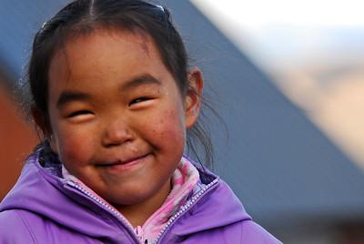 Inuit Child, Arctic Bay, Nunavut, Canada