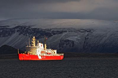 The Terry Fox, Canadian Coast Guard ice breaker vessel, Nunavut, Canada