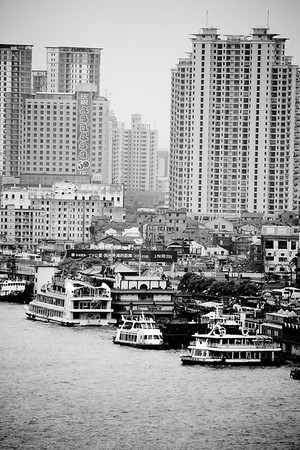 The skyline of Shanghai China
