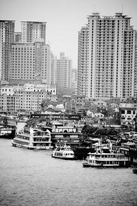 The skyline of Shanghai China