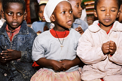 Students at the Tesfa Foundation's Tsegereda Memorial School in Addis Ababa, Ethiopia