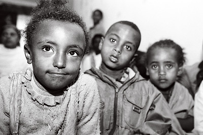 Students at the Tsegereda Memorial School in Addis Ababa, Ethiopia