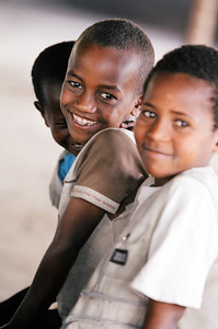 Children at the Nyahbinghi Tabernacle in Shashemene, Ethiopia