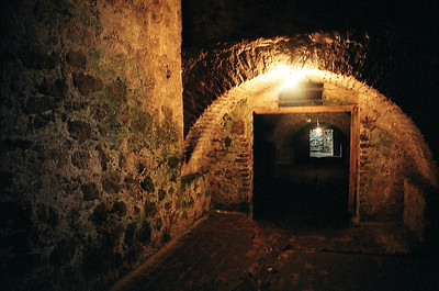 Underground chambers at Cape Coast Castle Museum in Ghana