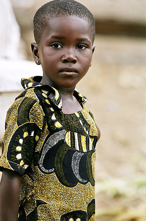 A child from Ghana's Cape Coast