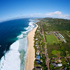 Aerial view of the North Shore of Oahu, Hawaii