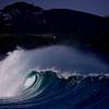 Waves breaking in Waimea Bay