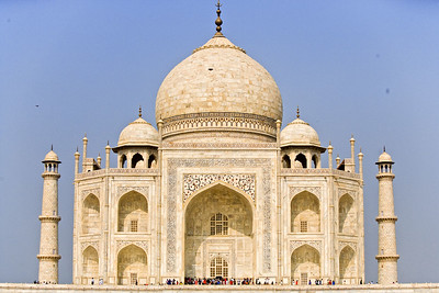 The Taj Mahal is a mausoleum built by Emperor Shah Jahan in memory of his favorite wife Mumtaz Mahal.