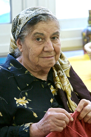 A resident of the Alzheimer's Unit at the Shaare Zedek Medical Center in Jerusalem, Israel