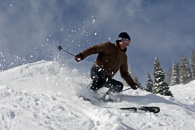 Jock Bell skiing in Jackson Hole, Wyoming