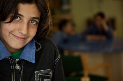 Young girl at the Jordan River Foundation in Amman, Jordan