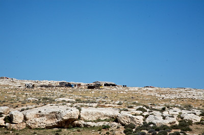 Roadside landscape near Amman, Jordan