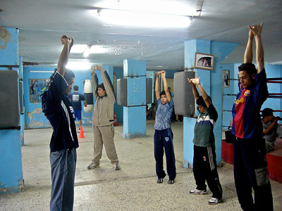 Young boxers in training, Baqa'a, Jordan