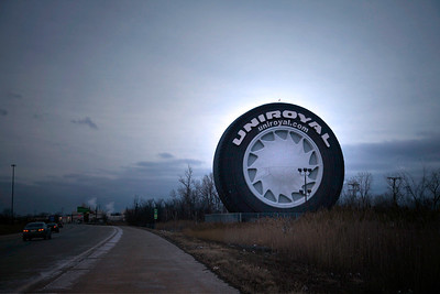 The Uniroyal Tire off of I94 was once a major manufacturer in Detroit.