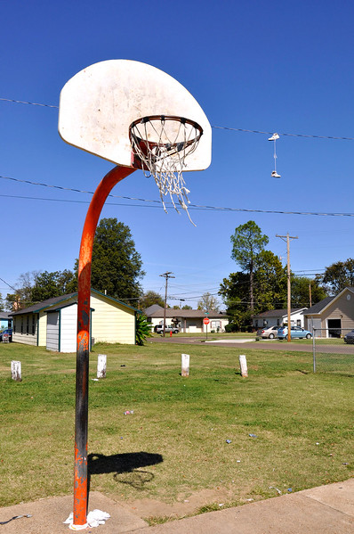 A vinyl basketball net will last for a significant amount of time. If the net is used outdoors. Hanging tennis shoes may cost you jail time.