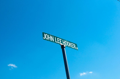John Lee Hooker Drive in Clarksdale.