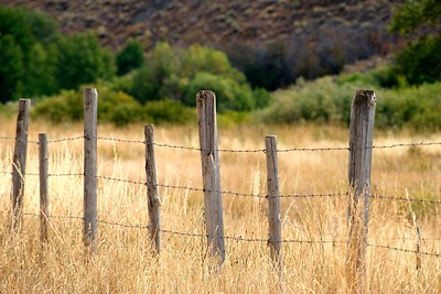 Sun Valley, Idaho Landscapes, Wooden Fence