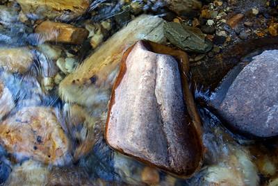 Rock in Stream, Sun Valley Idaho