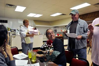 Nuttin Fancy Diner,Matt Sherman, Bo Webb, Nancy Platt, enjoying a good hot meal.