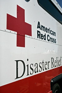 A Red Cross disaster relief vehicle