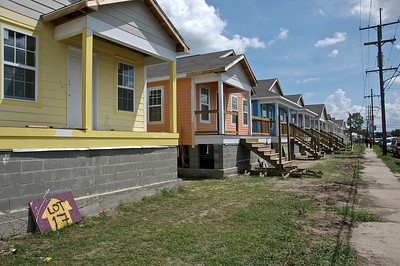 Habitat for Humanity built homes in New Orleans, Louisiana