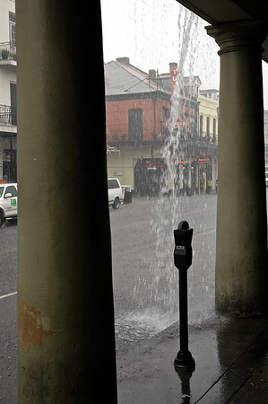 Rainstorm in New Orleans, Louisiana