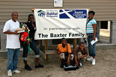 Habitat for Humanity helps the Baxter family rebuild in New Orleans, Louisiana