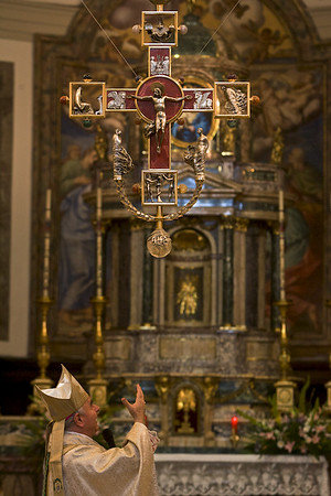 Bishop Vincenzo Paglia of Saint Valentine's Church in Terni, Italy