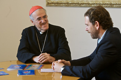 Meeting with Cardinal Barragan in the Vatican