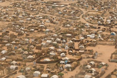 Aerial view of a Sudanese village