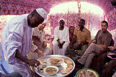 Charlie attends a Sheikh's wedding in the village of Gereida, Sudan